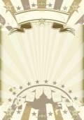 Kraft paper circus sunbeams poster — Stock Vector