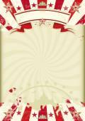 Circus kraft sunbeams poster — Stock Vector