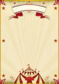 Fantastic brown circus vintage — Stock Vector