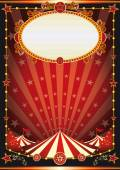 Red and black circus background — Vector de stock