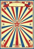 Patriotic retro sunbeams background — Stock Vector