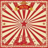Circus grunge greeting card — Stock Vector