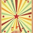 Multicolor circus vintage sunbeams background — Stock Vector #66926415