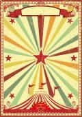 Multicolor circus vintage sunbeams background — Stock Vector