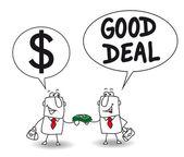 Businessman has  Good deal — Stock Vector