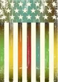 Multicolor textured american flag — Stock Vector