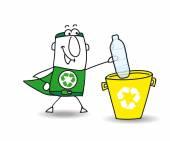 Recycling a plastic bottle — Vecteur