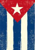 Cuban grunge poster — Stock Vector