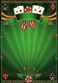 Green Casino background — Stock Vector