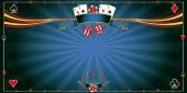 Greeting card blue Casino — Stock Vector