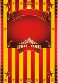Big yellow circus poster — Stock Vector