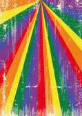Gay grunge sunbeams — Stock Vector
