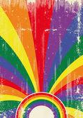 Gay retro sunbeams poster — Stock Vector