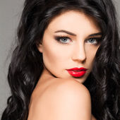 性感女时装模型美肖像 — 图库照片
