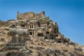 Ruínas de antiga cidade tlos — Fotografia Stock