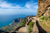Observation point at La Gomera mountains — Stock Photo