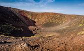 Etna volcano crater — Stock Photo