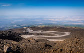 The path to the top of Mount Etna volcano — Stock Photo