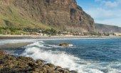 La Playa city bay, Gomera island — Foto Stock