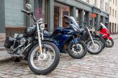 Motor bikes at parking — Stock Photo