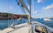Sailing yacht deck — Stock Photo