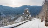Burg Eltz at winter — Stock Photo