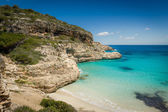 Ibiza wild sand beach — Stock Photo