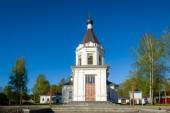 Небольшая церковь башня — Стоковое фото
