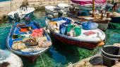 Mediterranean retro fishing boats — Stock Photo