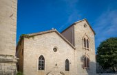 Ancient round church in Budva — Stock Photo