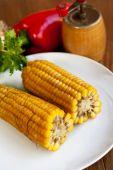 Boiled corn — Stock Photo