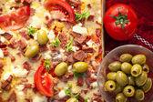 Delicious homemade pizza — Stock Photo