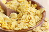 Corn flakes in bowl — Stock Photo
