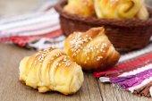 Fresh croissants — Stock Photo