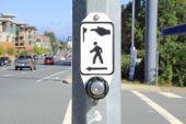 Pedestrian Crosswalk Button — Stock Photo