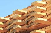 Close on Processed Lumber — Stock Photo