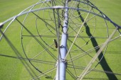 Agricultural Irrigation Wheel Spokes — Stock Photo