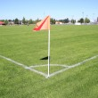 Wide on a Soccer Corner Field Flag — Stock Photo #52996809