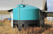 Chemical Holding Tank on Farm — Stock Photo