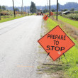 Sign on a Road Construction Site — Stock Photo #53334447