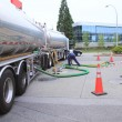 Filling Gas Station Fuel Tanks — Stock Photo #53334805