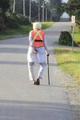 Sikh Senior with Safety Vest — Foto Stock