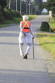 Sikh Senior with Safety Vest — Stock Photo