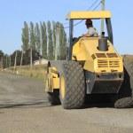 Bulldozer Working on Road — Stock Photo #53558191