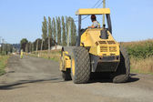 Bulldozer Working on Road — Stock Photo