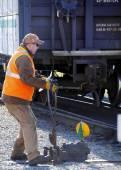 Switch järnvägsoperatör — Stockfoto