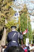 Canadian Flag at Half Staff — Stock Photo
