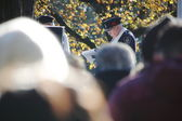Retired Police Officer at Remembrance Day Service — Stock Photo