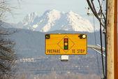 Prepare to Stop Sign — Stock Photo