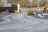 Dangerous Road Conditions — Stock Photo